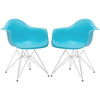Padget Arm Chair In Aqua (Set Of 2) Dining