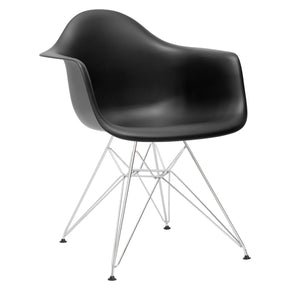 Padget Arm Chair In Black Dining