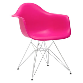 Padget Arm Chair In Fuchsia (Set Of 2) Dining