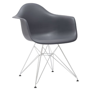 Padget Arm Chair In Grey Dining