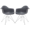 Padget Arm Chair In Grey (Set Of 2) Dining