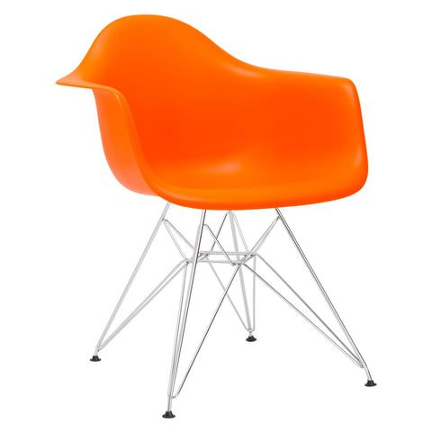 Padget Arm Chair In Orange Dining