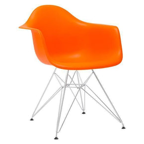 Padget Arm Chair In Orange (Set Of 2) Dining