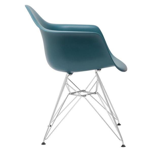 Dining Chairs - EdgeMod EM-111-CRM-TEA-X2 Padget Arm Chair in Teal (Set of 2) | 641061720607 | Only $152.30. Buy today at http://www.contemporaryfurniturewarehouse.com