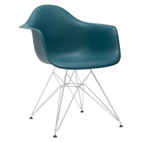 EdgeMod Padget Arm Chair in Teal (Set of 2) EM-111-CRM-TEA-X2 | 641061720607| $152.30. Dining Chairs - . Buy today at http://www.contemporaryfurniturewarehouse.com