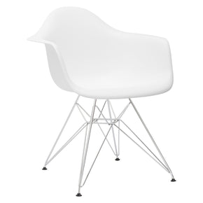 Padget Arm Chair In White (Set Of 2) Dining