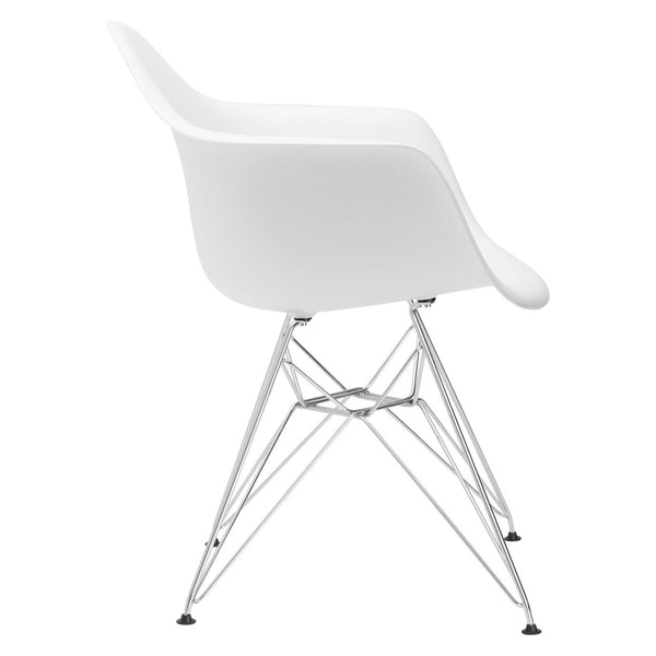 Dining Chairs - EdgeMod EM-111-CRM-WHI-X2 Padget Arm Chair in White (Set of 2) | 616806868395 | Only $152.30. Buy today at http://www.contemporaryfurniturewarehouse.com