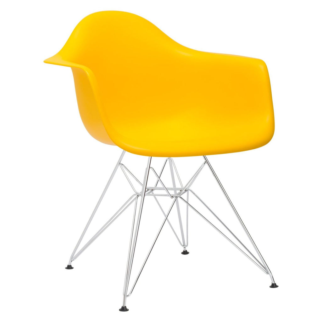 Dining Chairs - EdgeMod EM-111-CRM-YEL Padget Arm Chair in Yellow | 641061724797 | Only $76.10. Buy today at http://www.contemporaryfurniturewarehouse.com