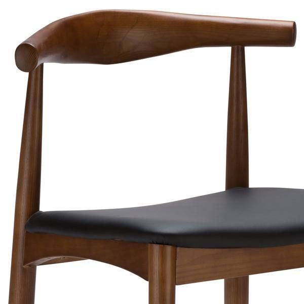 Keren Mid-Century Elbow Style Dining Chair In Walnut (Set Of 2)