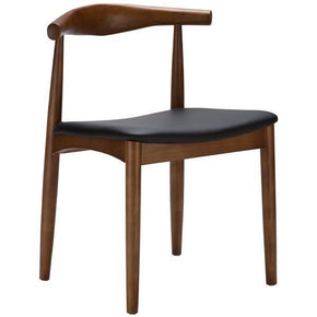 Dining Chairs - EdgeMod EM-116-WAL-X2 Keren Mid-century Elbow Style Dining Chair in Walnut (Set of 2) | 641061720737 | Only $314.80. Buy today at http://www.contemporaryfurniturewarehouse.com