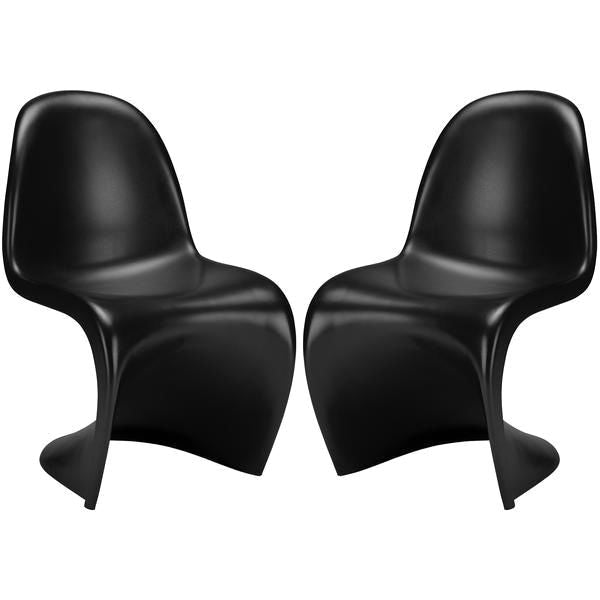 EdgeMod EM-117-BLK-X2 S Chair in Black (Set of 2) | 641061720959 | $175.00. Dining Chairs. Buy today at http://www.contemporaryfurniturewarehouse.com