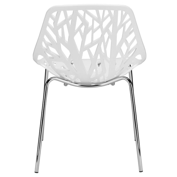 EdgeMod Birds Nest Dining Side Chair in White (Set of 2) EM-148-WHI-X2 | 641061721024| $111.10. Dining Chairs - . Buy today at http://www.contemporaryfurniturewarehouse.com