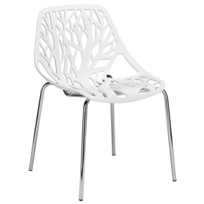 Dining Chairs - EdgeMod EM-148-WHI-X2 Birds Nest Dining Side Chair in White (Set of 2) | 641061721024 | Only $111.10. Buy today at http://www.contemporaryfurniturewarehouse.com