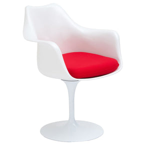 Dining Chairs - EdgeMod EM-152-RED Daisy Arm Chair in Red | 641061719892 | Only $189.90. Buy today at http://www.contemporaryfurniturewarehouse.com