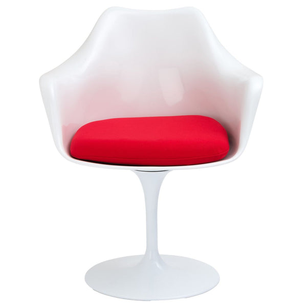 Daisy Arm Chair In Red Dining