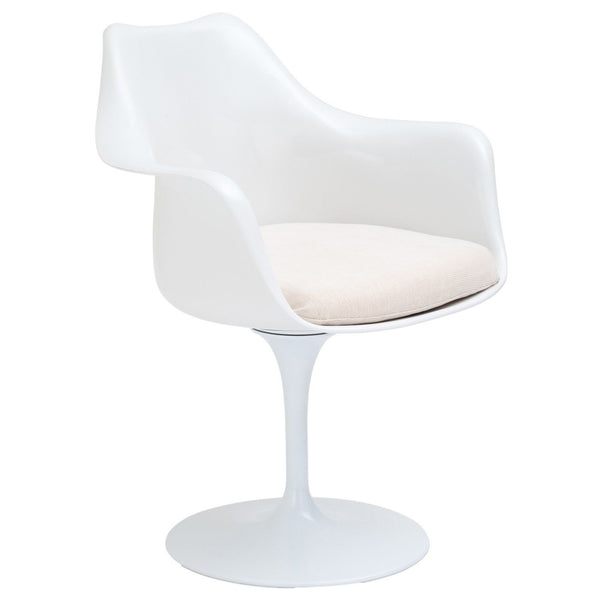 Daisy Arm Chair In White Dining