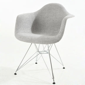 EdgeMod Padget Padded Arm Chair in Light Grey EM-223-CRM-LGR | 638455927865| $171.50. Dining Chairs - . Buy today at http://www.contemporaryfurniturewarehouse.com