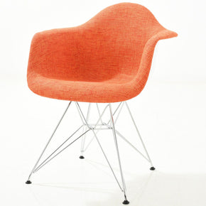 Padget Padded Arm Chair In Orange Dining
