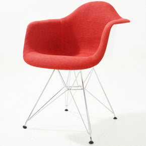 Padget Padded Arm Chair In Red Dining