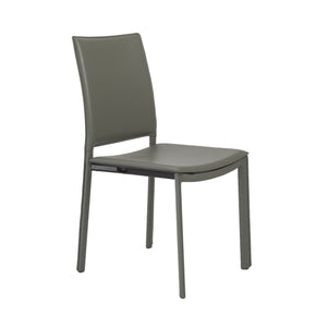Kate Dining Chair In Gray Leatherette - Set Of 4