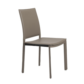 Kate Dining Chair In Taupe Leatherette - Set Of 4
