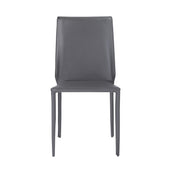 Alder Stacking Side Chair In Dark Gray - Set Of 4 Dining
