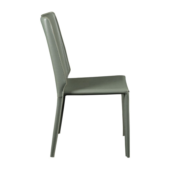 Alder Stacking Side Chair In Green - Set Of 4 Dining