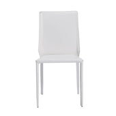 Alder Stacking Side Chair In White - Set Of 4 Dining