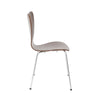 Tendy Stacking Chair In American Walnut With Chrome Legs - Set Of 4 Dining