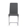 Cinzia Dining Chair in Gray with Chrome Legs - Set of 2