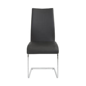 Epifania Dining Chair In Black With Chrome Legs - Set Of 4