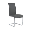 Epifania Dining Chair Gray / Chrome Legs (Set of 4)