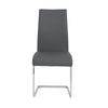 Epifania Dining Chair In Gray With Chrome Legs - Set Of 4
