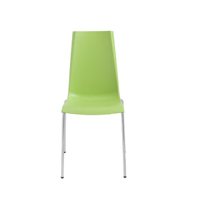 Mannequin Stacking Side Chair In Light Green With Chrome Legs - Set Of 4 Dining
