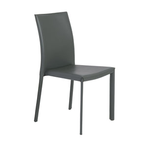 Hasina Stacking Side Chair In Gray - Set Of 4 Dining