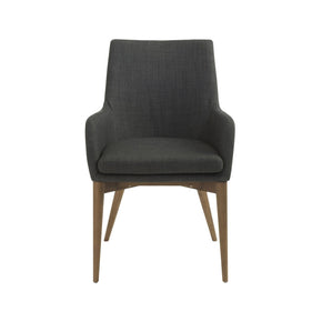 Dining Chairs - Euro Style EURO-38675CHAR Calais Arm Chair in Charcoal with Walnut Legs - Set of 2 | 727511934531 | Only $759.98. Buy today at http://www.contemporaryfurniturewarehouse.com