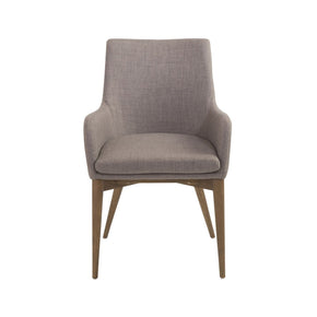 Calais Arm Chair In Dark Gray With Walnut Legs - Set Of 2 Dining