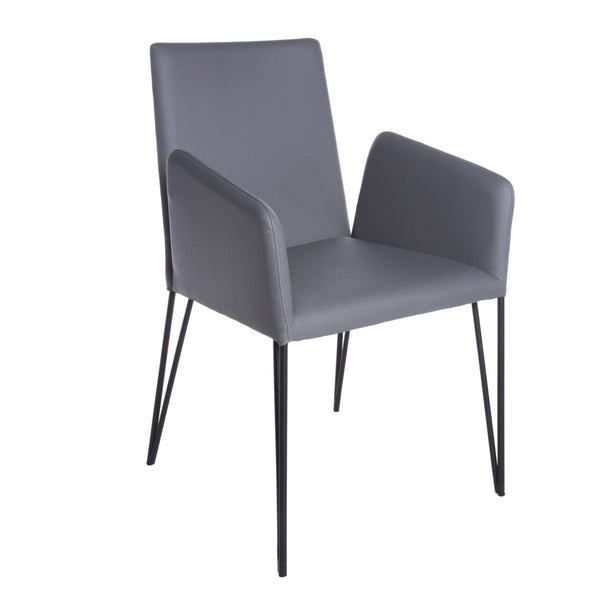 Amir Arm Chair In Dark Gray And Black Dining