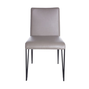 Amir Side Chair In Taupe And Black - Set Of 2 Dining