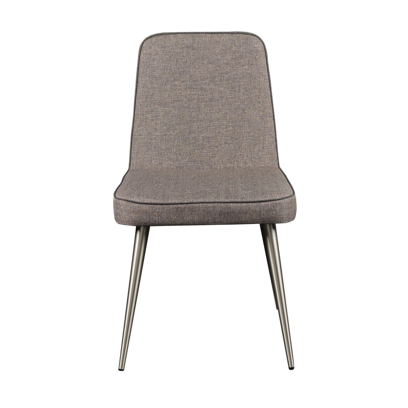 Euro Style Esmoriz Side Chair In Gray And With Brushed
