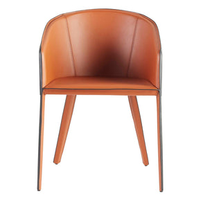 Pallas Arm Chair In Cognac And Black Dining