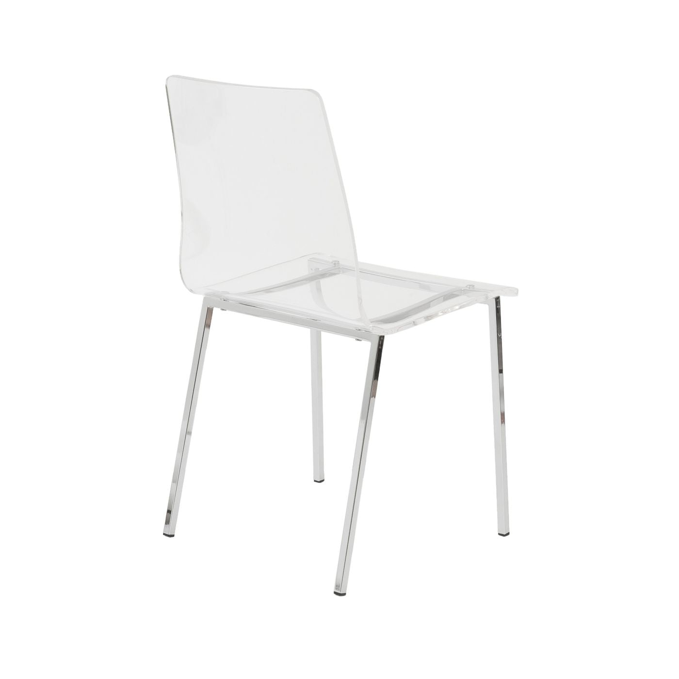 Brilliant Euro Style Euro 80940Clr Chloe Dining Side Chair In Clear Acrylic With Chrome Legs Set Of 4 Caraccident5 Cool Chair Designs And Ideas Caraccident5Info
