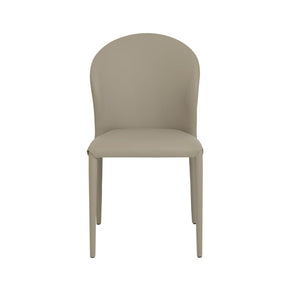 Elaine Dining Chair In Taupe With Stitching Legs - Set Of 4