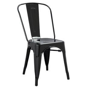 Dining Chairs - Fine Mod Imports FMI10014-BLACK Tolix Style Chair, Black | 15568675522 | Only $89.80. Buy today at http://www.contemporaryfurniturewarehouse.com