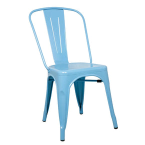 Dining Chairs - Fine Mod Imports FMI10014-BLUE Tolix Style Chair, Blue | 15568675508 | Only $79.80. Buy today at http://www.contemporaryfurniturewarehouse.com