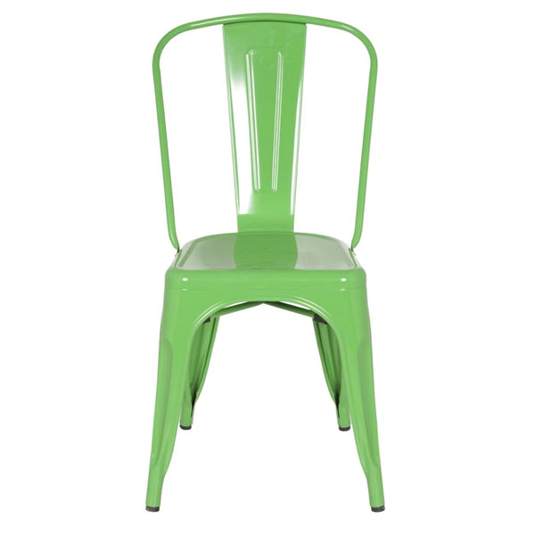 Tolix Style Chair Green Dining Tolix Style Chair Green Dining ...