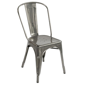 Tolix Style Chair Gunmetal Dining