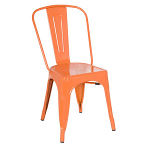 Tolix Style Chair Orange Dining