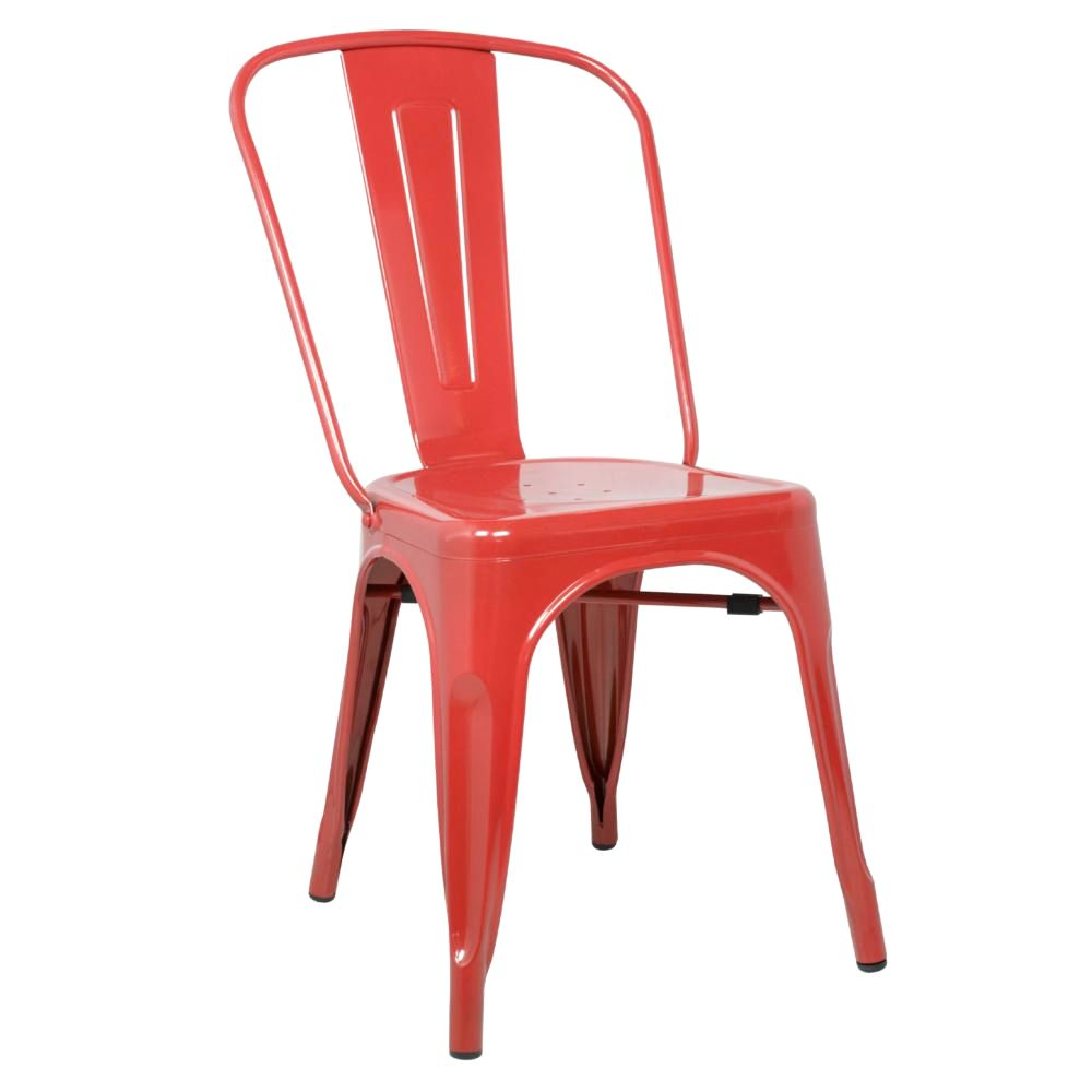 Tolix Style Chair Red Dining