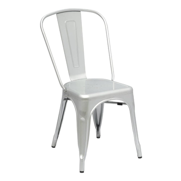 Tolix Style Chair Silver Dining
